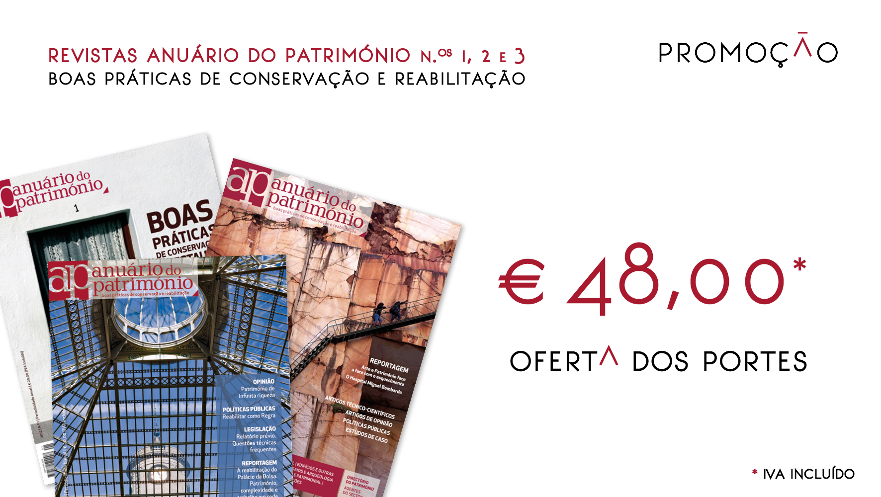 Revistas Anuário do Património 1, 2 e 3